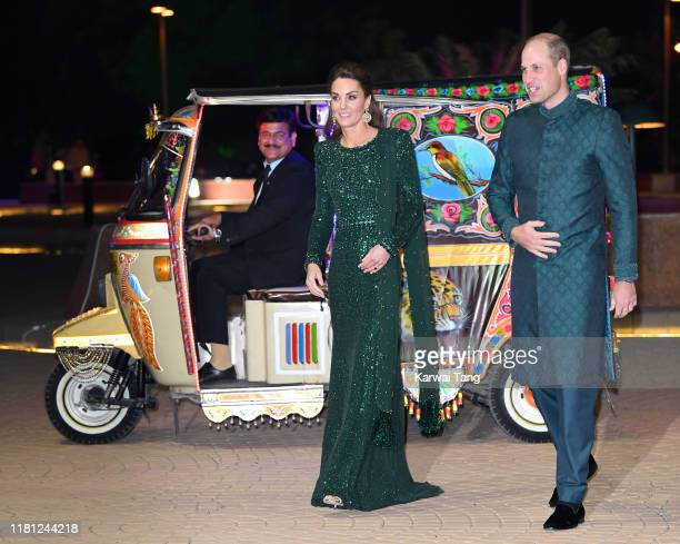 Prince William Duke of Cambridge and Catherine Duchess of Cambridge attend a special reception hosted by the British High Commissioner to Pakistan at...