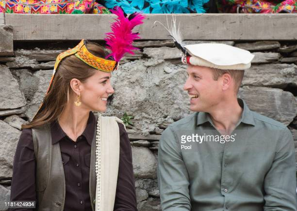 Prince William, Duke of Cambridge and Catherine, Duchess of Cambridge visit a settlement of the Kalash people, to learn more about their culture and...