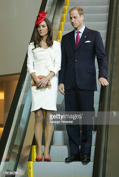 Prince William, Duke of Cambridge and Catherine, Duchess of Cambridge visit the Canadian Museum of Civilization to attend a citizenship ceremony on...