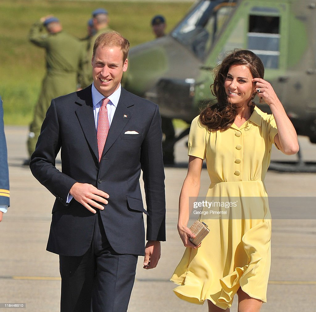 Prince William, Duke of Cambridge and Catherine, Duchess of Cambridge arrive at the Calgary International Airport on July 7, 2011 in Calgary, Canada.
