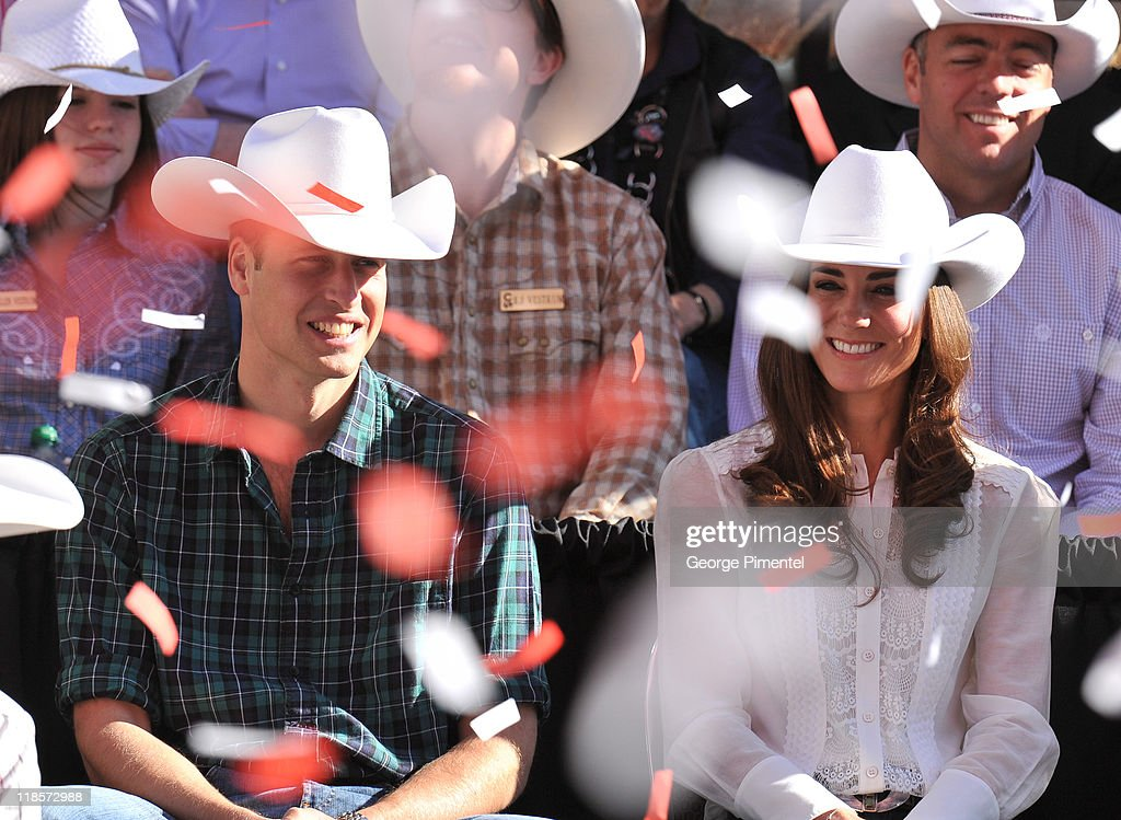 Prince William, Duke of Cambridge and Catherine, Duchess of Cambridge attend the Calgary Stampede Parade on day 9 of the Royal couple's tour of North America on July 8, 2011 in Calgary, Canada.