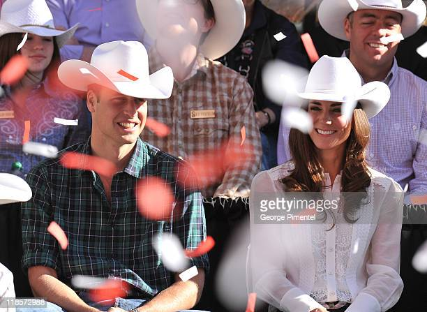 Prince William, Duke of Cambridge and Catherine, Duchess of Cambridge attend the Calgary Stampede Parade on day 9 of the Royal couple's tour of North...