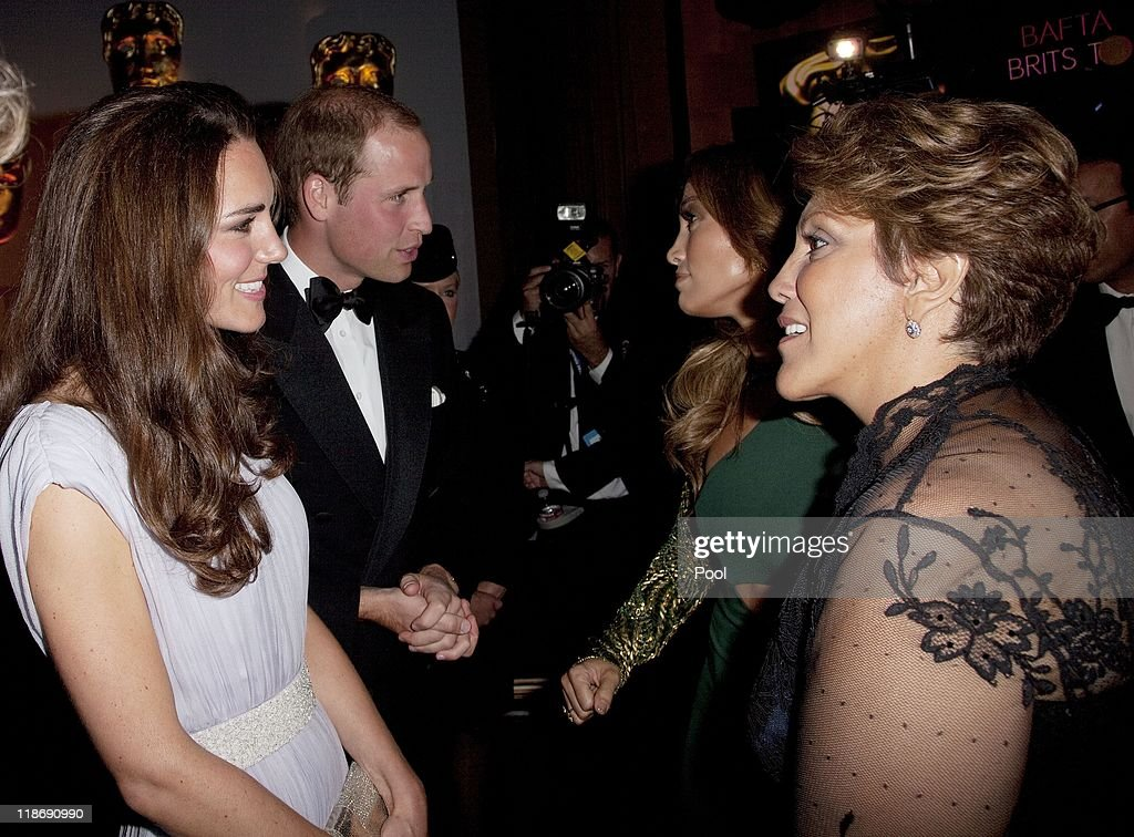 Prince William, Duke of Cambridge and Catherine, Duchess of Cambridge speaks to Jennifer Lopez and her mother Guadalupe Lopez at the 2011 BAFTA Brits To Watch Event at the Belasco Theatre on July 9, 2011 in Los Angeles, California. The newlywed Duke and Duchess of Cambridge were in attendance on the ninth day of their first joint overseas tour visiting Canada and the United States.