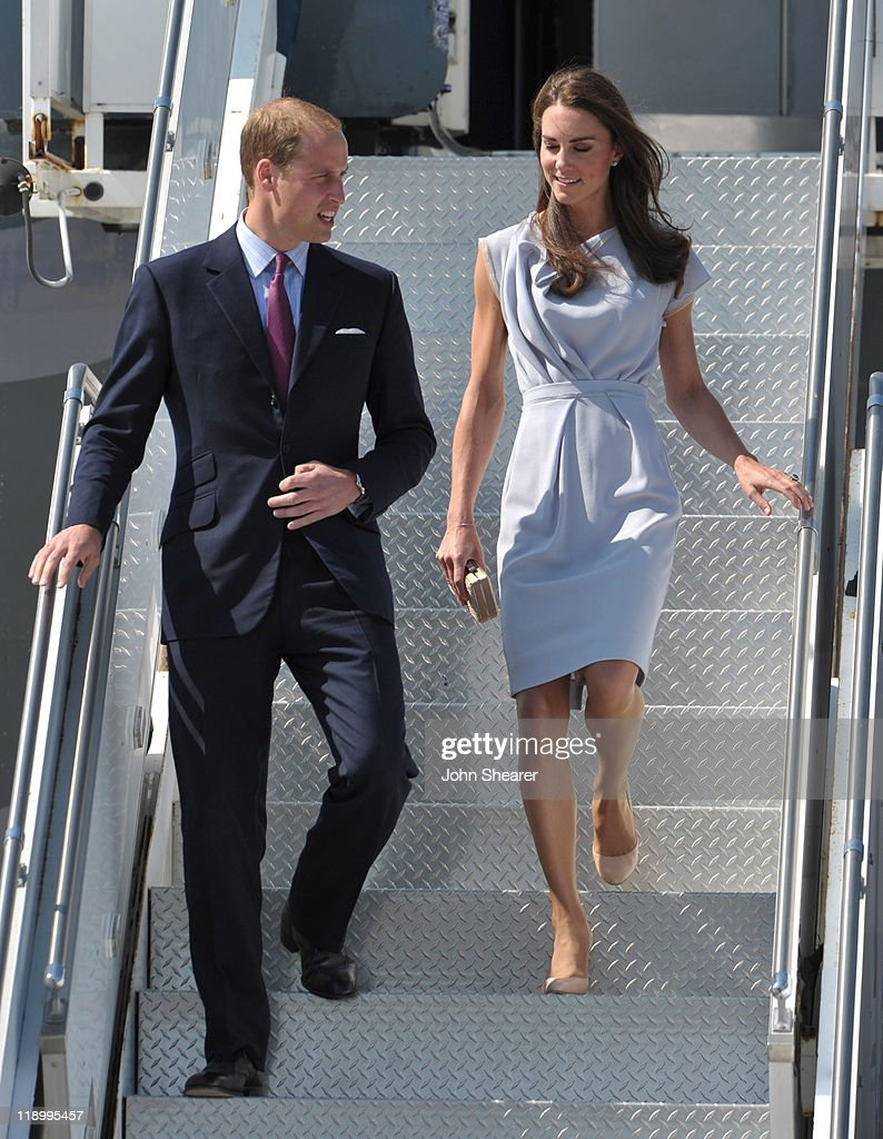The Duke And Duchess Of Cambridge Arrive At LAX International Airport : News Photo