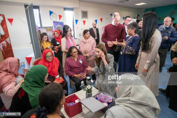 Prince William Duke of Cambridge and Catherine Duchess of Cambridge visit the Khidmat Centre on January 15 2020 in Bradford United Kingdom