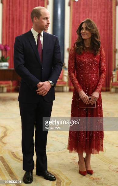 Prince William, Duke of Cambridge and Catherine, Duchess of Cambridge attend a reception to mark the UK-Africa Investment Summit at Buckingham Palace...