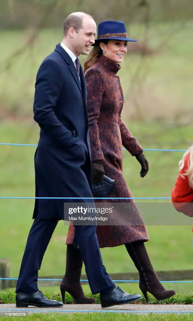 Members of the Royal Family Attend Sunday Church Service At Sandringham : News Photo