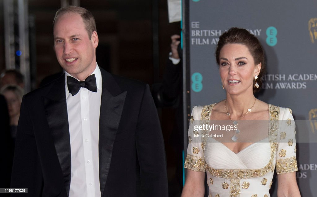 The Duke And Duchess Of Cambridge Attend The EE British Academy Film Awards : Foto jornalística