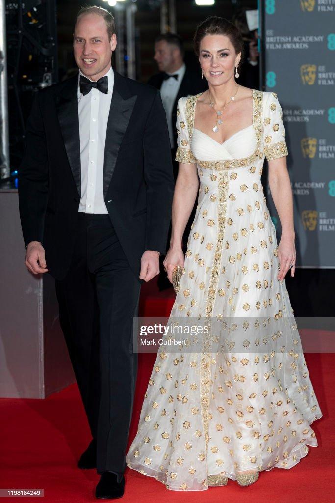 The Duke And Duchess Of Cambridge Attend The EE British Academy Film Awards : Foto di attualità