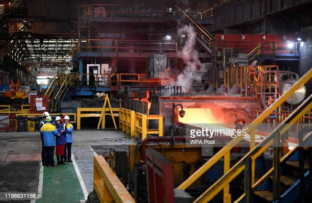 Prince William, Duke of Cambridge and Catherine, Duchess of Cambridge visit Tata Steel on February 04, 2020 in Port Talbot, Wales.