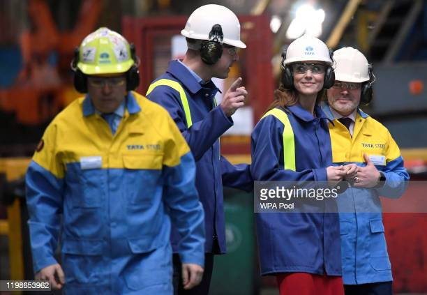 Prince William Duke of Cambridge and Catherine Duchess of Cambridge tour the mill with Hub Director Martin Brunnock and Works Manager Carl Banfield...