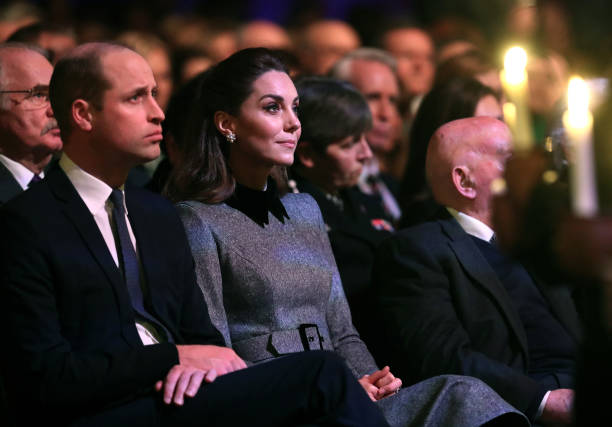 GBR: The Duke And Duchess Of Cambridge Attend The UK Holocaust Memorial Day Commemorative Ceremony