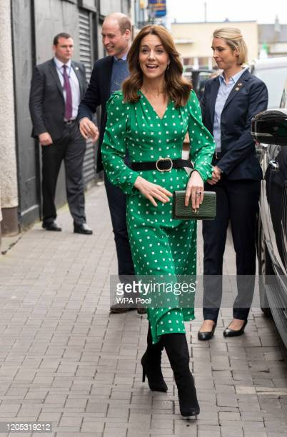 Prince William, Duke of Cambridge and Catherine, Duchess of Cambridge arrive to visit a family-owned, traditional Irish pub in Galway city centre...