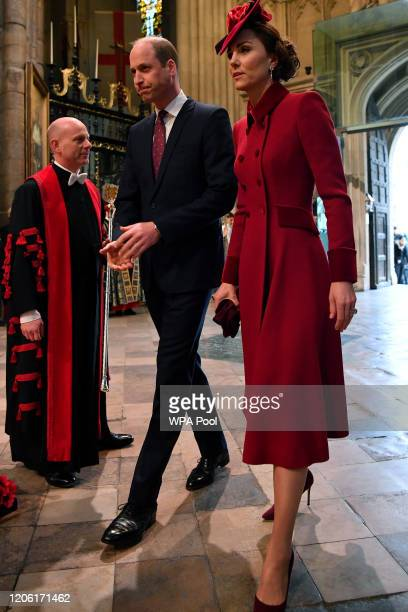 Prince William, Duke of Cambridge and Catherine, Duchess of Cambridge attend the Commonwealth Day Service 2020 on March 9, 2020 in London, England.