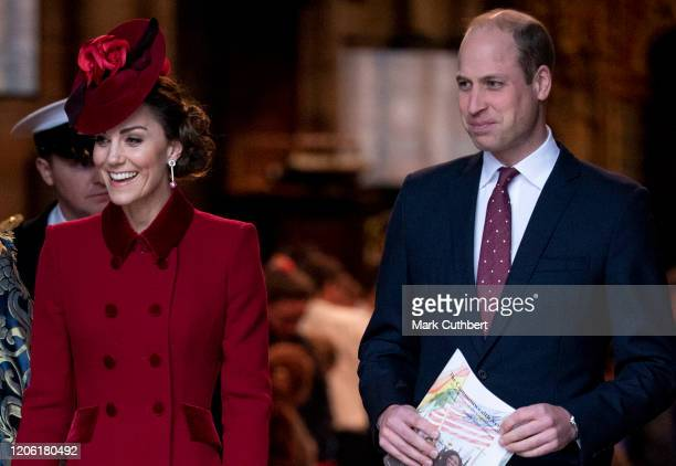 Prince William, Duke of Cambridge and Catherine, Duchess of Cambridge attend the Commonwealth Day Service 2020 at Westminster Abbey on March 9, 2020...
