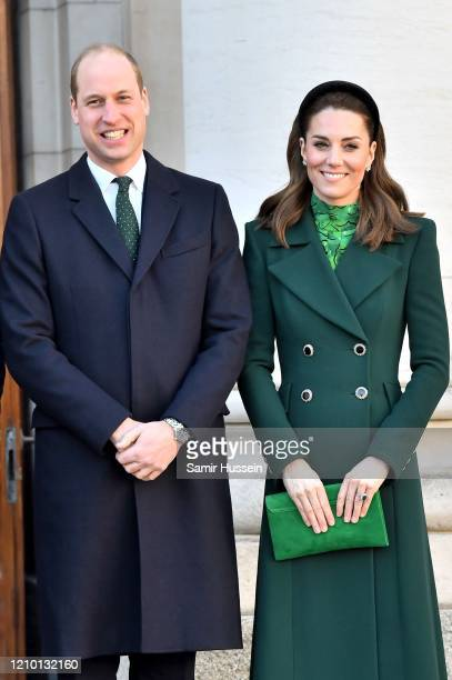 Prince William, Duke of Cambridge and Catherine, Duchess of Cambridge arrive for an Official Meeting with the Taoiseach of Ireland Leo Varadkar on...