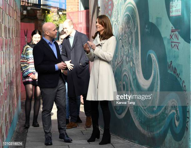 Prince William Duke of Cambridge and Catherine Duchess of Cambridge visit the mental health charity Jigsaw on day two of their Royal tour of Ireland...