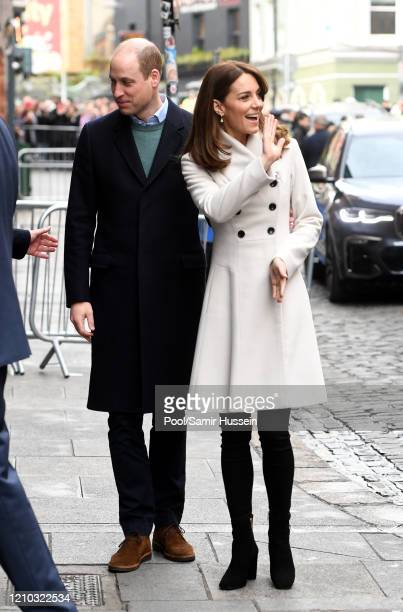 Prince William, Duke of Cambridge and Catherine, Duchess of Cambridge visit Jigsaw, the National Centre for Youth Mental Health, which provides vital...