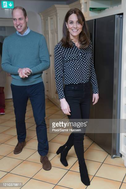 Prince William, Duke of Cambridge and Catherine, Duchess of Cambridge visit Savannah House, a residential facility run by charity Extern, in County...