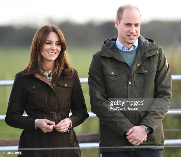 Prince William, Duke of Cambridge and Catherine, Duchess of Cambridge visit Teagasc Research Farm's on March 04, 2020 in Carlow, Ireland. The Duke...
