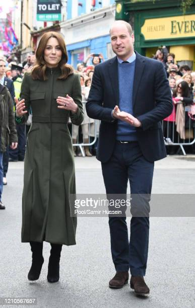 Prince William Duke of Cambridge and Catherine Duchess of Cambridge visit Tig Coili a traditional Irish pub on March 05 2020 in Galway Ireland