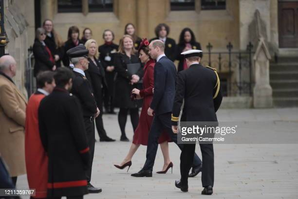 Prince William Duke of Cambridge and Catherine Duchess of Cambridge attend the Commonwealth Day Service 2020 at Westminster Abbey on March 09 2020 in...