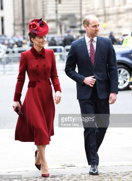 Prince William, Duke of Cambridge and Catherine, Duchess of Cambridge attend the Commonwealth Day Service 2020 at Westminster Abbey on March 09, 2020...