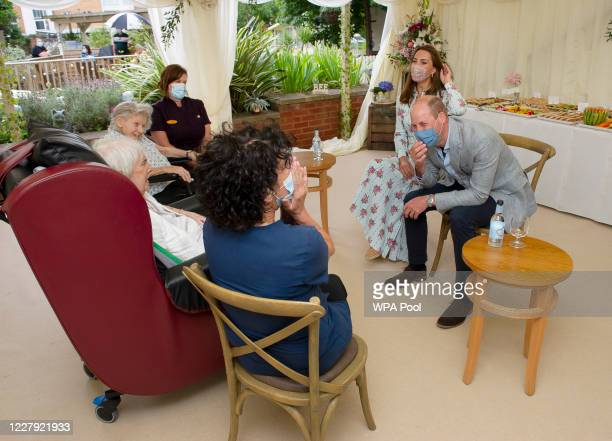 Prince William Duke of Cambridge and Catherine Duchess of Cambridge react as they were told they aren't good at online bingo by resident Joan Drew...
