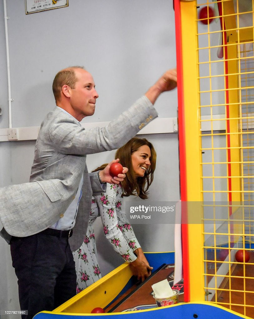 The Duke And Duchess Of Cambridge Visit South Wales : News Photo