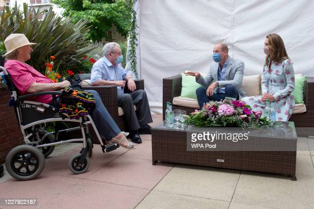 Prince William Duke of Cambridge and Catherine Duchess of Cambridge meet residents at the Shire Hall Care Home where they spoke to some of the home's...