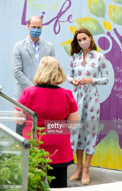 Prince William Duke of Cambridge and Catherine Duchess of Cambridge visit the Shire Hall Care Home where they spoke to some of the home's staff...