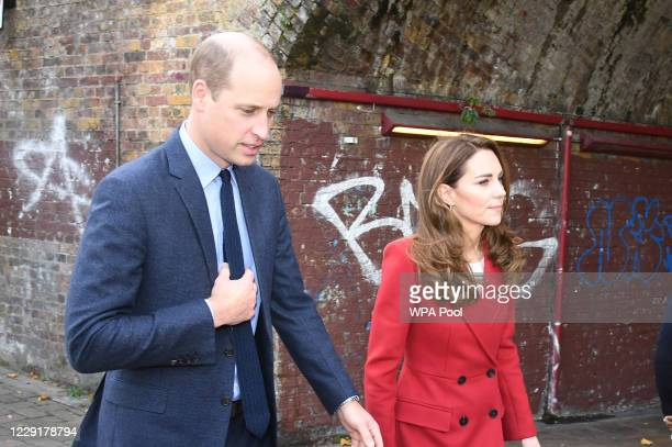 Prince William Duke of Cambridge and Catherine Duchess of Cambridge visit the launch of the Hold Still campaign at Waterloo Station on October 20...