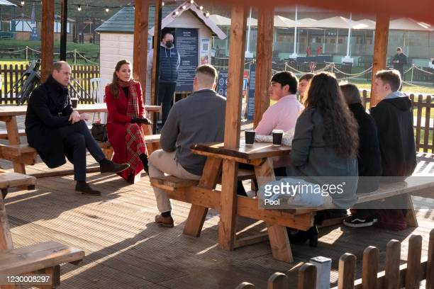 Prince William, Duke of Cambridge and Catherine, Duchess of Cambridge visit Cardiff Castle to meet local university students and hear about some of...