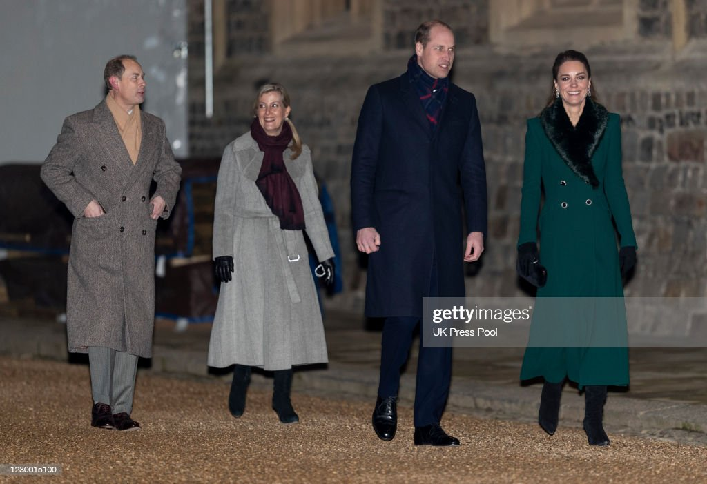 Members Of The Royal Family Thank Volunteers And Key Workers At Windsor Castle : News Photo