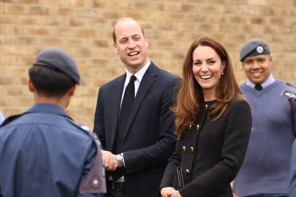 GBR: The Duke And Duchess Of Cambridge Visit The Air Cadets At 282 East Ham Squadron