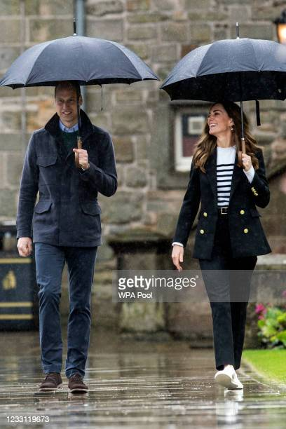 Prince William, Duke of Cambridge and Catherine, Duchess of Cambridge during a visit to the University of St Andrews on May 26, 2021 in St Andrews,...
