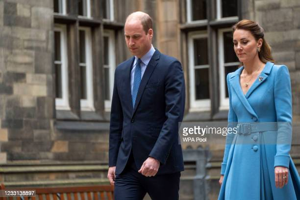 Prince William, Duke of Cambridge and Catherine, Duchess of Cambridge attend the closing ceremony of the General Assembly on May 27, 2021 in...