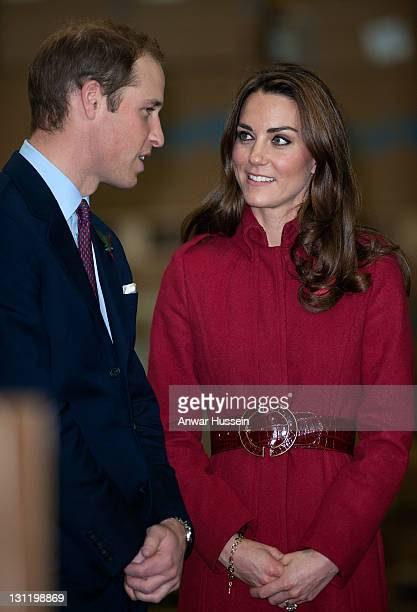 Prince William, Duke of Cambridge and Catherine, Duchess of Cambridge visit the UNICEF Supply Division centre to view the distribution of aid to East...