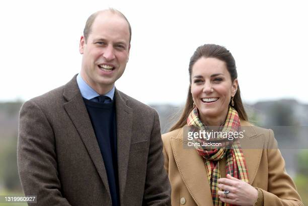 Prince William, Duke of Cambridge and Catherine, Duchess of Cambridge arrive to officially open The Balfour, Orkney Hospital on day five of their...