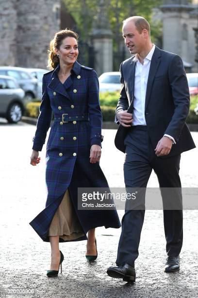 Prince William, Duke of Cambridge and Catherine, Duchess of Cambridge arrive to host NHS Charities Together and NHS staff at a unique drive-in cinema...