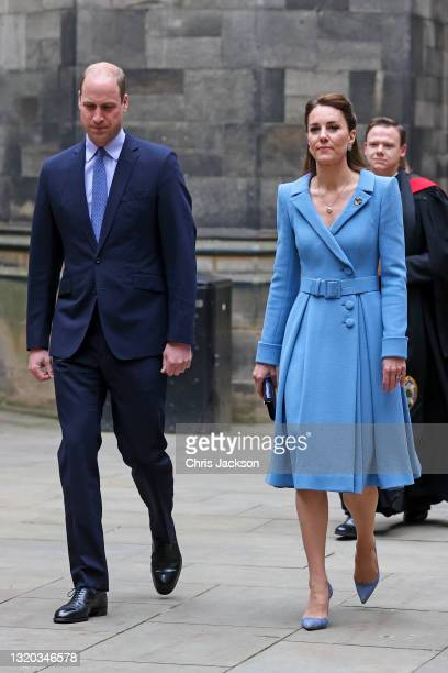 Prince William, Duke of Cambridge and Catherine, Duchess of Cambridge arrive at the Closing Ceremony of the General Assembly of the Church of...