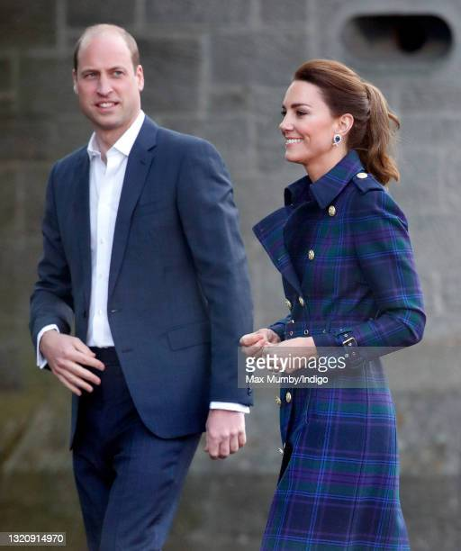 Prince William, Duke of Cambridge and Catherine, Duchess of Cambridge host a drive-in cinema screening of Disney's 'Cruella' for Scottish NHS workers...