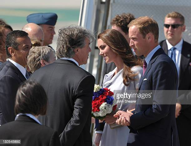 Prince William, Duke of Cambridge and Catherine, Duchess of Cambridge arrive at LAX Airport on July 8, 2011 in Los Angeles, California.