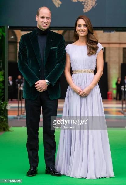 Prince William, Duke of Cambridge and Catherine, Duchess of Cambridge attend the Earthshot Prize 2021 at Alexandra Palace on October 17, 2021 in...
