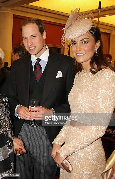 Prince William Duke of Cambridge and Catherine Duchess of Cambridge attend a reception at Guildhall on June 5 2012 in London England For only the...