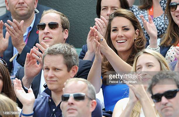 Prince William Duke of Cambridge and Catherine Duchess of Cambridge during the match between Andy Murray of Great Britain and Nicolas Almagro of...