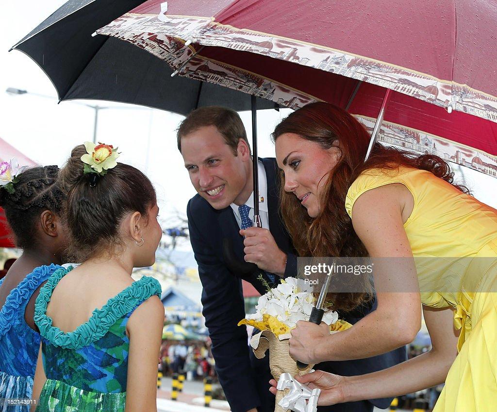 The Duke And Duchess Of Cambridge Diamond Jubilee Tour - Day 7 : News Photo