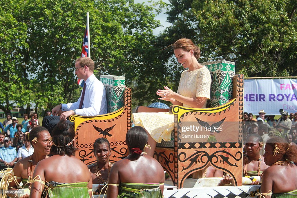 The Duke And Duchess Of Cambridge Diamond Jubilee Tour - Day 8 : News Photo