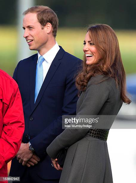 Prince William Duke of Cambridge and Catherine Duchess of Cambridge attend the official launch of The Football Association's National Football Centre...
