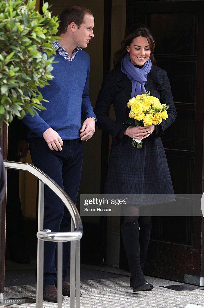 Duchess Of Cambridge Leaves The King Edwards VII Hospital : News Photo